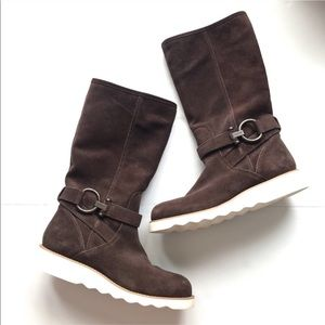Coach Virtue Suede Brown Boots Size 9.5